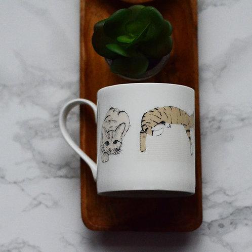 Coloured Cats Fine Bone China Mug