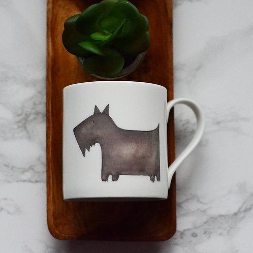 Scottie Dog Fine Bone China Mug