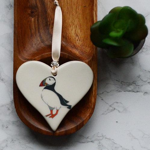 Puffin Ceramic Heart