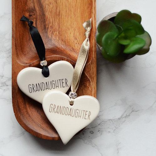 Granddaughter Ceramic Heart