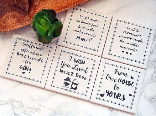 Friendship Quotation Coaster