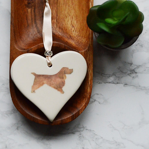 Cocker Spaniel Ceramic Heart