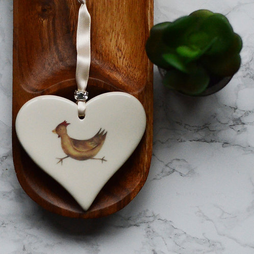 Chicken Ceramic Heart
