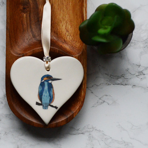Kingfisher Ceramic Heart