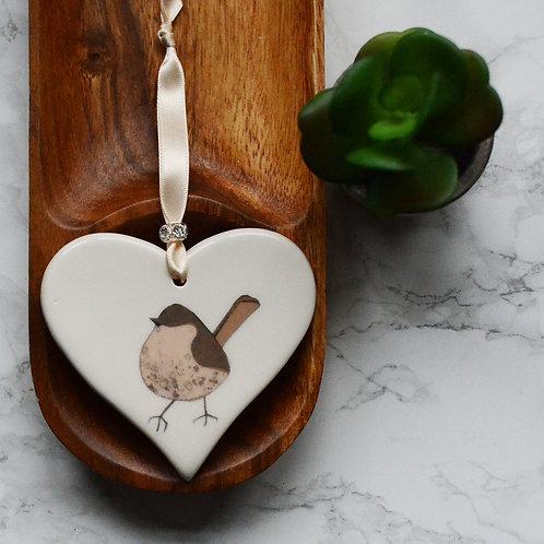 Wren Ceramic Heart
