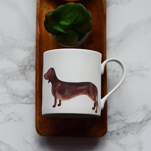 Smooth Haired Dachshund Fine Bone China Mug