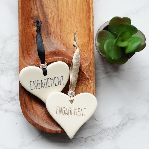 Engagement Ceramic Heart