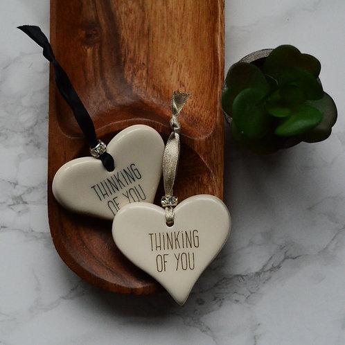 Thinking of You Ceramic Heart