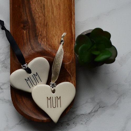 Mum / Mummy Ceramic Heart