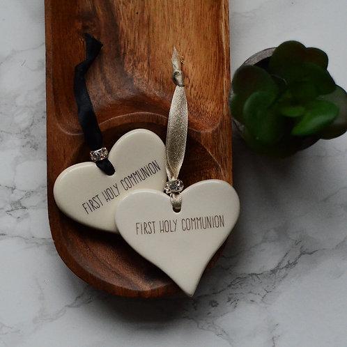 Religious Ceramic Hearts