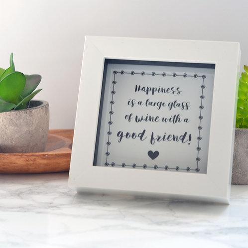 Friendship Quotation Framed Tile
