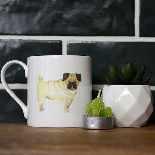 Pug Fine Bone China Mug