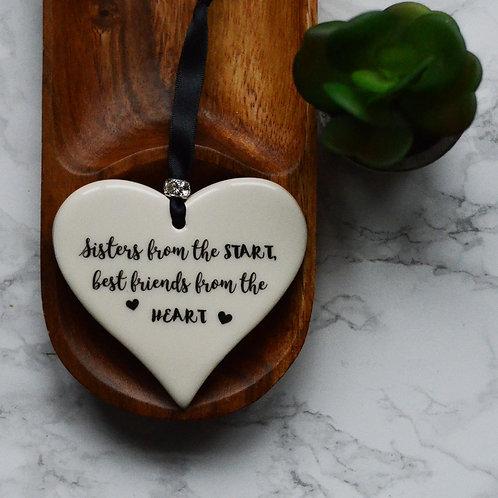 Sisters Ceramic Hearts