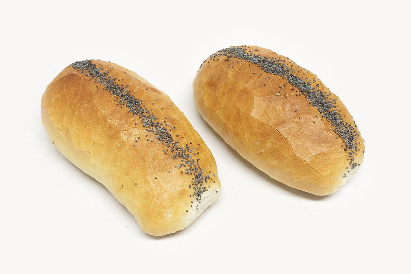 Crusty Poppy Seed Finger Rolls (4 Pack)