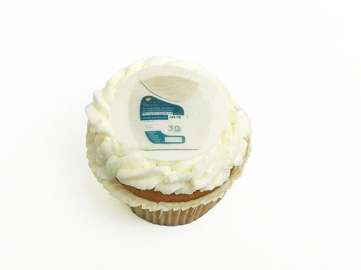 Vanilla Photo Cupcake