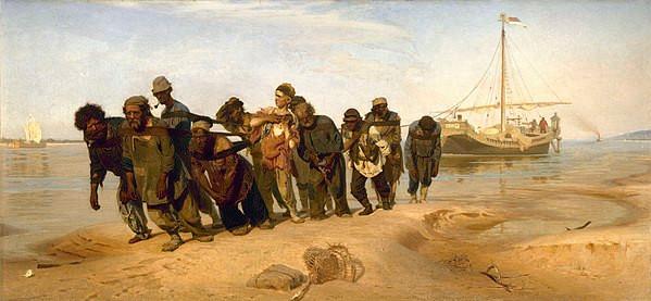 Barge Haulers on the Volga, Ilya Repin
