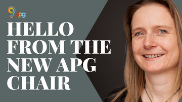 Hello from APG's new Chair, Vicki Holgate