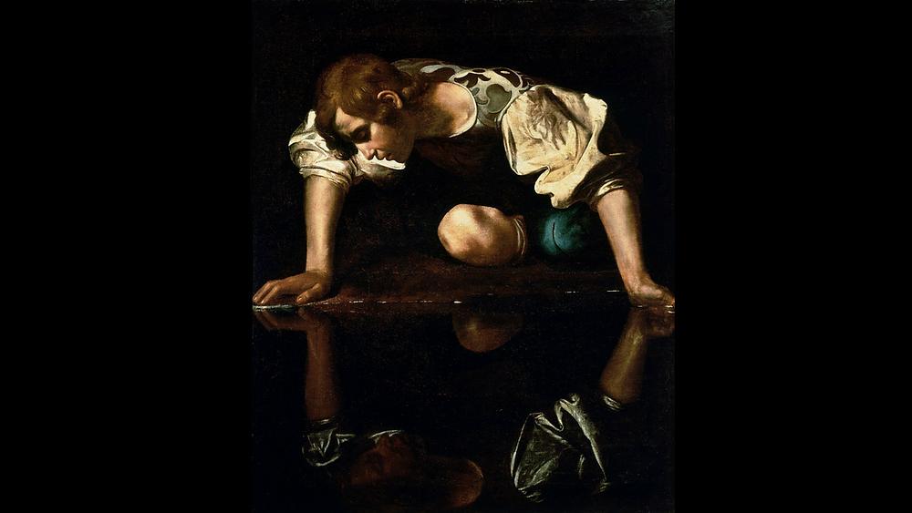 Narcissus/ Caravaggio