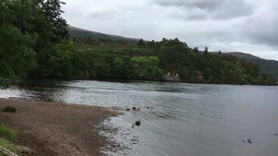 The Loch Ness from the shore of Fort Augustus, Scotland. The length of the Loch Ness is almost 23 miles and its maximum depth is up to 745 feet deep. A lot of water for something undiscovered to hide. Do you see Nessie?