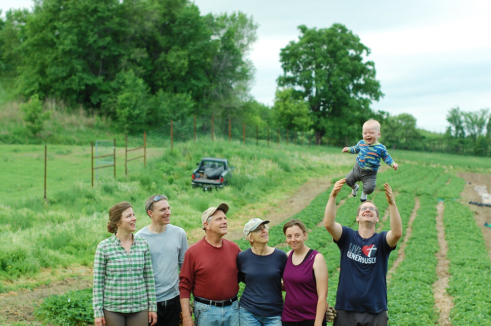 Family at Driftless Orchard
