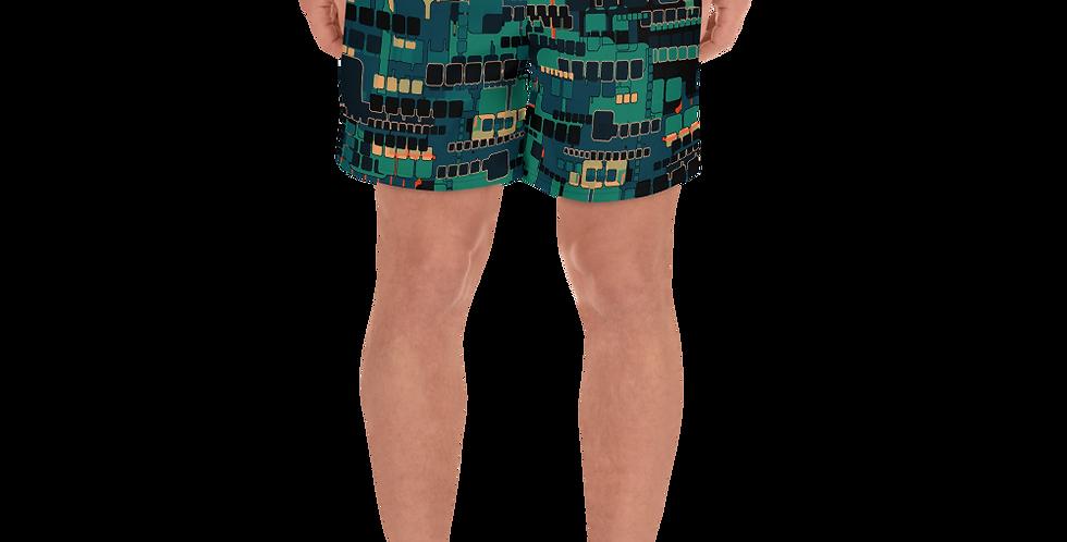 Vibrant Villan Men's Athletic Long Shorts