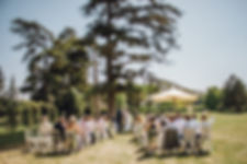 Ceremony in the park at Chateau de Malliac