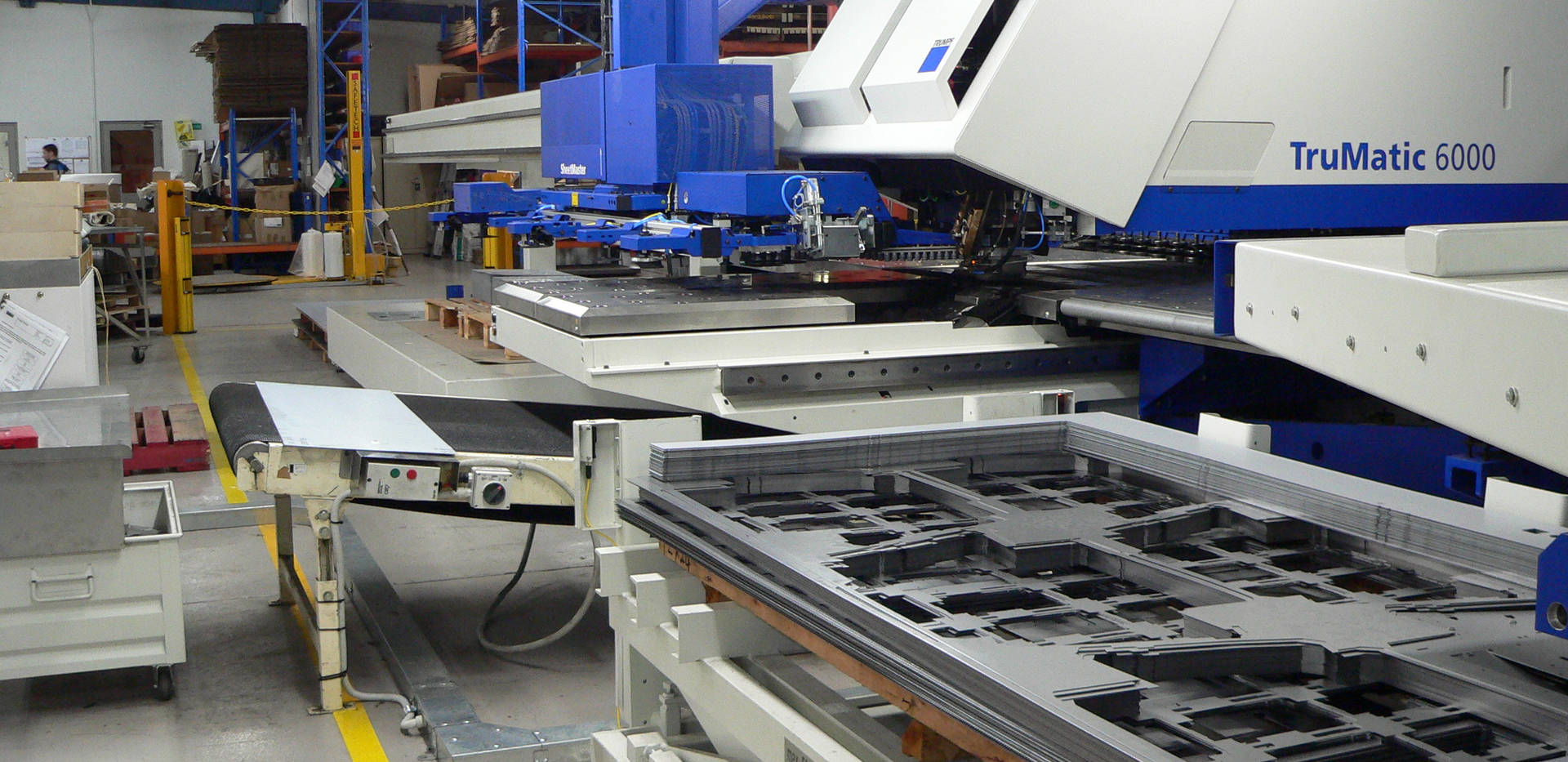 CNC Laser / Punch Press Combination with Automatic Sheet Feeder at Interfab