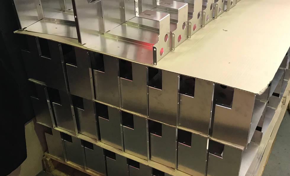 Aluminium Pieces Ready for Welding