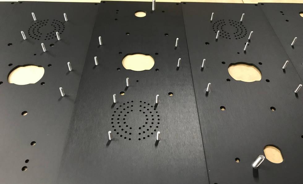 Anodised Aluminium with Stud Inserts