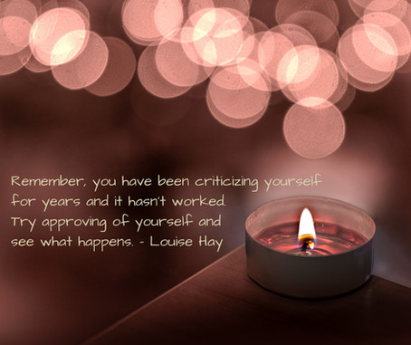 Try approving of yourself.