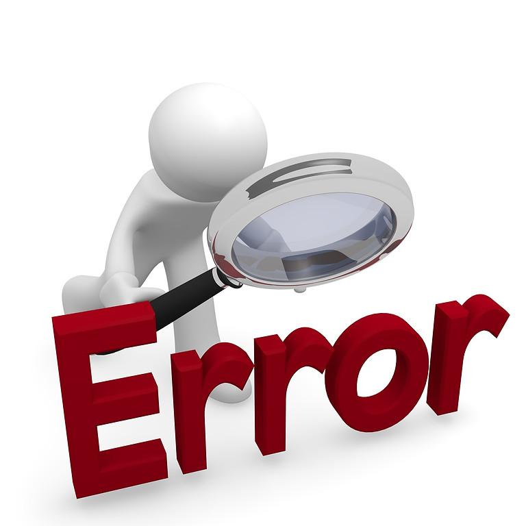 Zoom Session 3: Error Scene Investigator