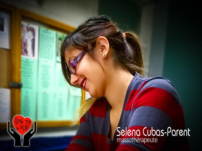 Selena Cubas-Parent, massothérapeute