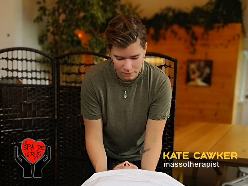 Kate Cawker, massotherapist