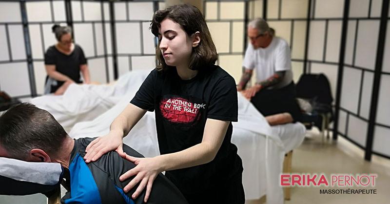 Erika Pernot, massothérapeute