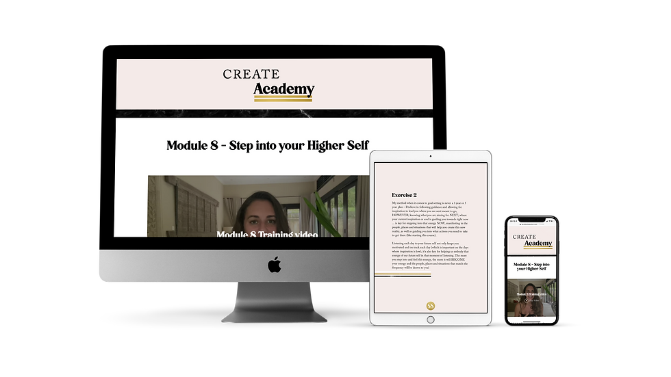 Create Academy GOLD version (incl 3 x 75 minute 1:1 sessions)