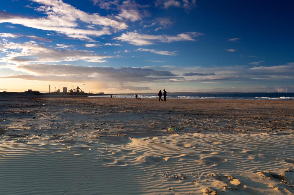 Redcar Beach at Sunset