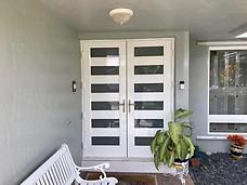 Aluminum Shaker Entrance Door
