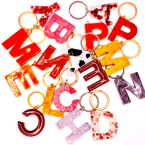 Autumn Resin Initial Key Chains