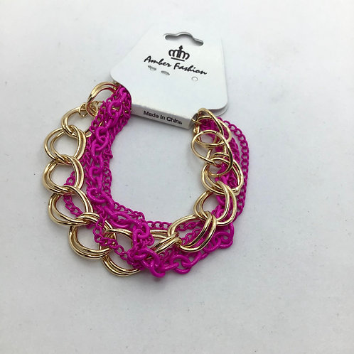 Chunky Double Chained Neon Anklet