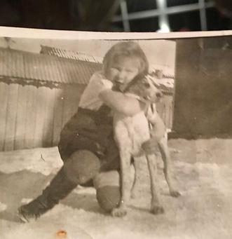Pelle og meg i 1947.jpg