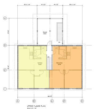 Upper Floor Plan Blue River BC Accommodation Hotel Suites