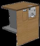 PerfectMoney Bezahlautomat PM UT 820 in Verkaufswagen eingebaut.
