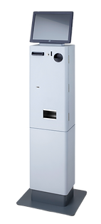 PerfectMoney PM XS Bezahlautomat in Weiß mit Sockel
