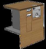 PerfectMoney Kassenautomat PM UT 822 in Theke eingebaut.