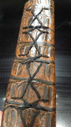 dragon zagged stitch black thread