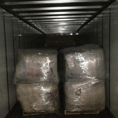 Bales of Carpet Tile - Being Shipped for Recycling