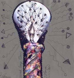 Repurposed Designer Standing Lamp