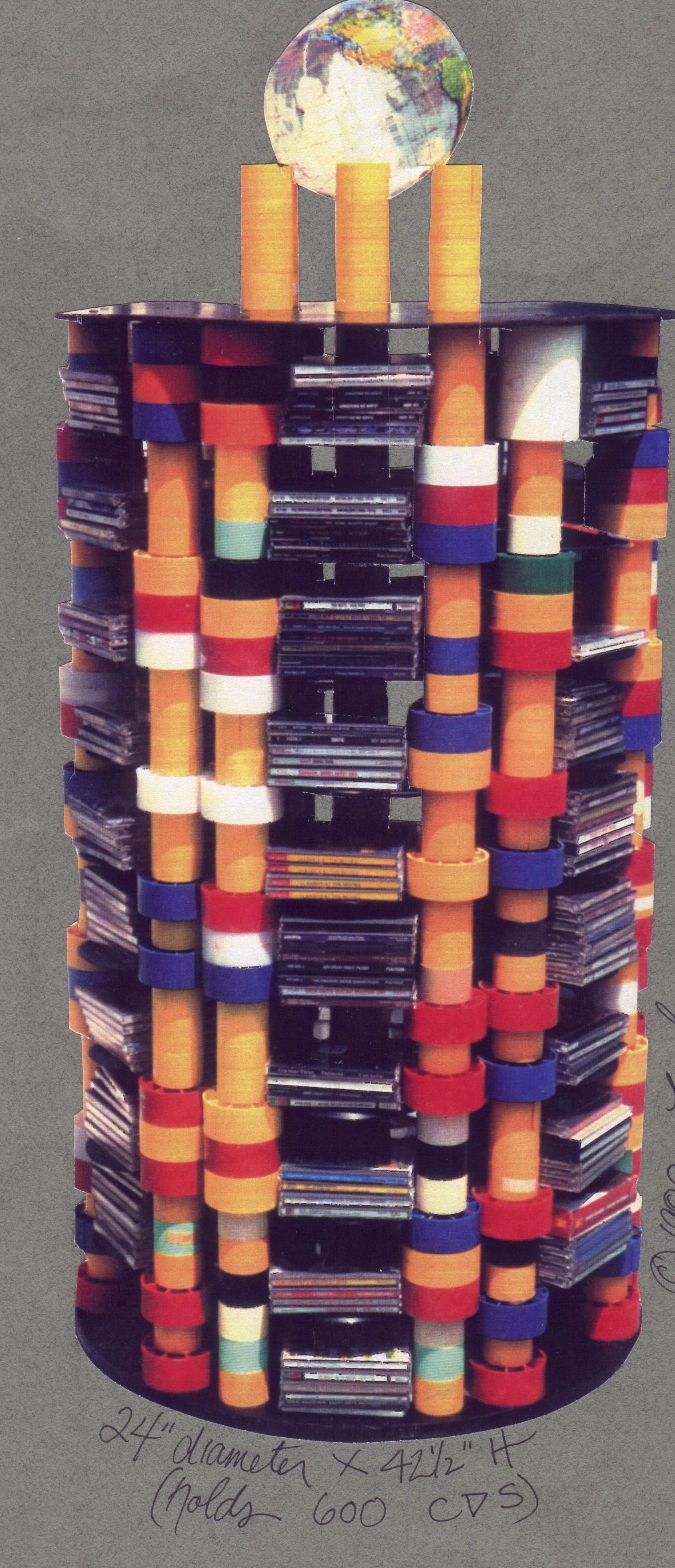 Film Core 45 RPM CD Stand