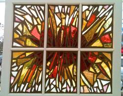 Repurposed Sunburst Window
