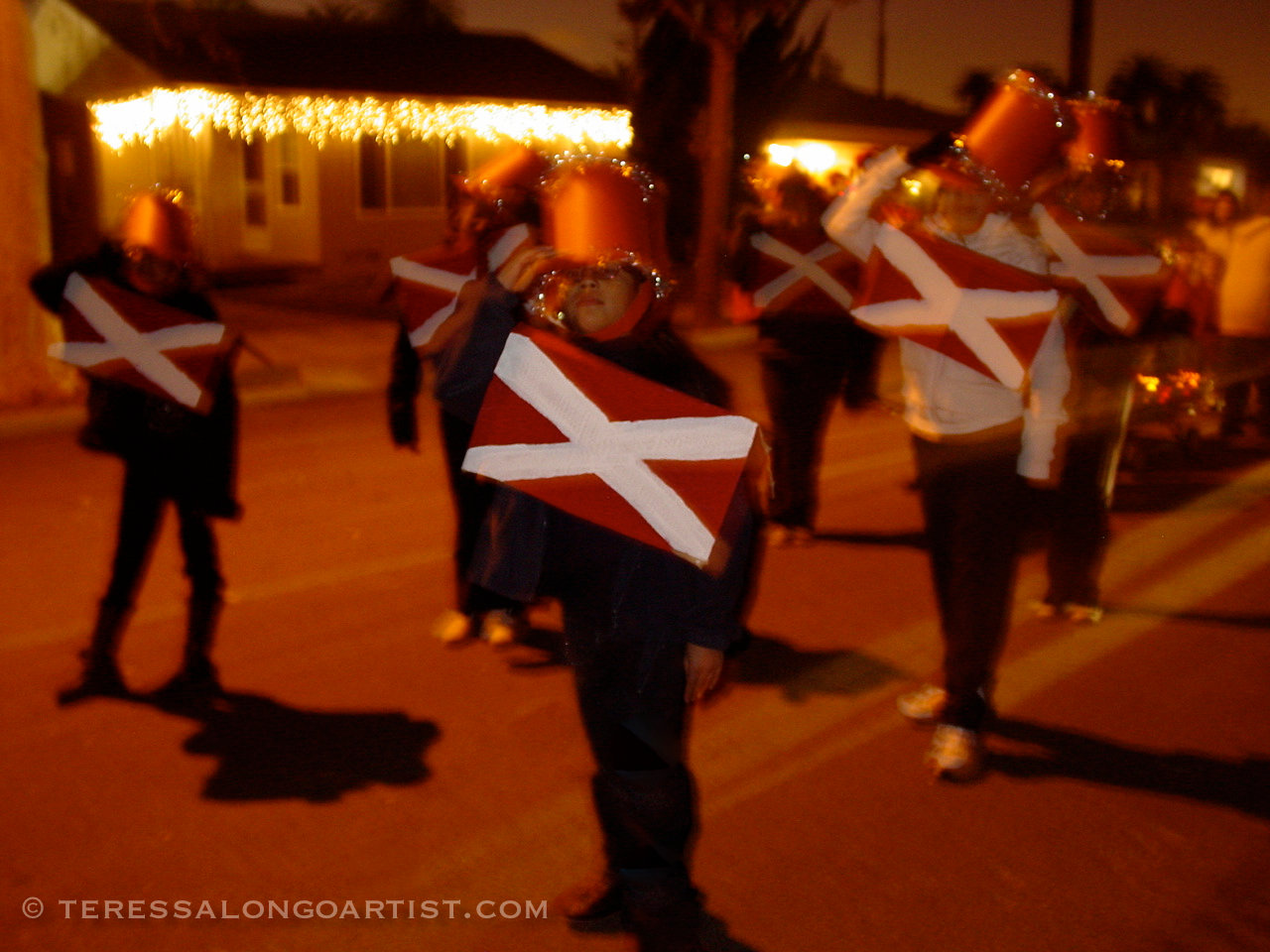 Christmas Night Parade Long Beach, California